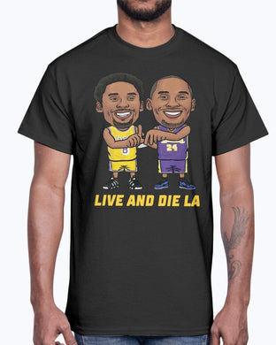 KOBE BRYANT LIVE AND DIE LA T-SHIRT NBA LOS ANGELES LAKERS