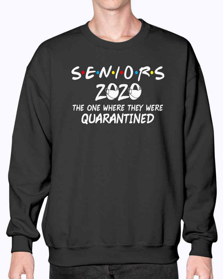Seniors 2020 The One Where They were Quarantined Social Distancing T-Shirt