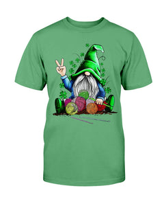 Gnomie hug knitting St Patrick's day shirt