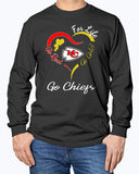 Kansas City Chiefs Heart For Life Go Red Go Gold Go Chiefs Shirt