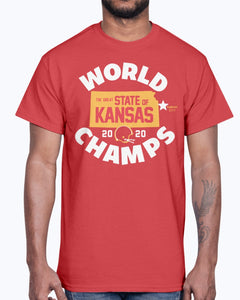 Kansas World Champs T-Shirt - The Great State Of Kansas 2020 Shirt - Kansas City