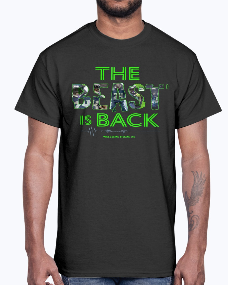 SEAHAWKS - THE BEAST IS BACK WELCOME HOME 24 SHIRT