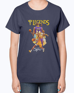 KOBE BRYANT 24 LOS ANGELES LAKERS LEGENDS SIGNATURE SHIRT