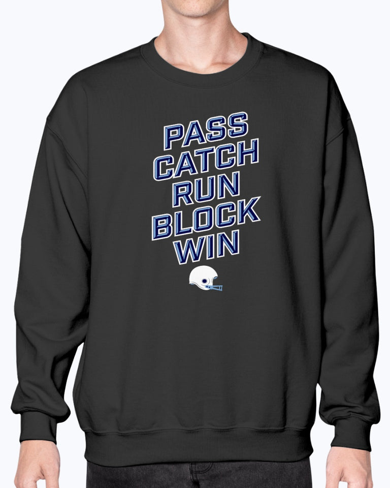 PASS CATCH RUN BLOCK WIN SHIRT