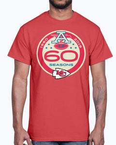 Kansas City Chiefs 60 Seasons 1960 - 2019 Shirt
