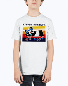 Panda My Everything Hurts Vintage Shirt
