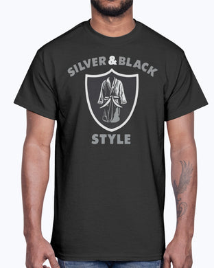 HENRY RUGGS III RAIDERS SILVER AND BLACK STYLE SHIRT