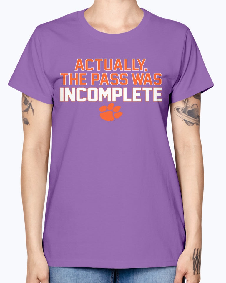 Actually The Pass Was Incomplete Shirt