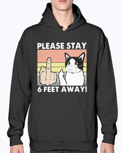 Please Stay 6 Feet Away Cat Vintage Shirt