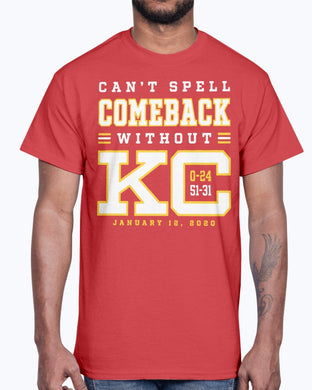 Can't Spell Comeback Without KC T-Shirt
