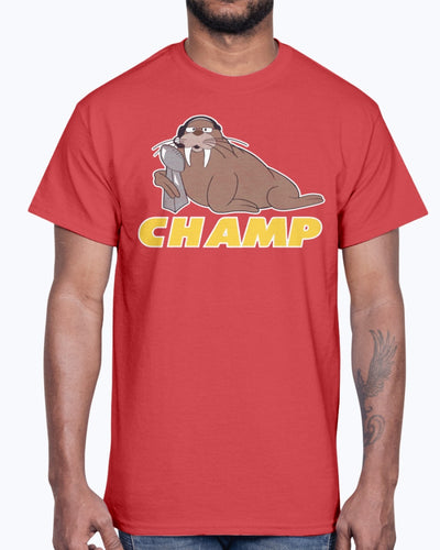 WALRUS CHAMPS - ANDY REID SHIRT Kansas City Chiefs Super Bowl LIV Champions