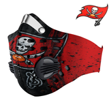 Tampa Bay Buccaneers Carbon PM 2,5 Face Mask