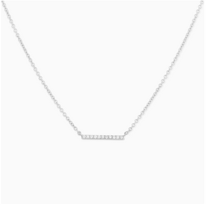 Mejuri - Diamond Line Necklace