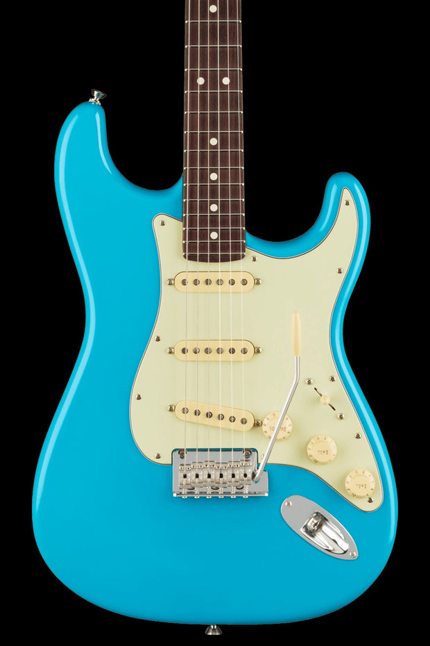 Fender American Professional II Stratocaster - Miami Blue with Rosewood Fingerboard Electric Guitar Fender