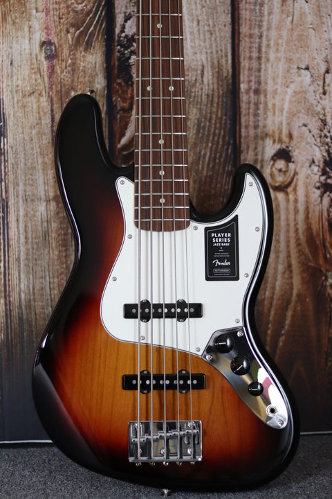 Fender Player Jazz Bass - 3-Tone Sunburst with Pau Ferro Fingerboard Bass Guitar Fender