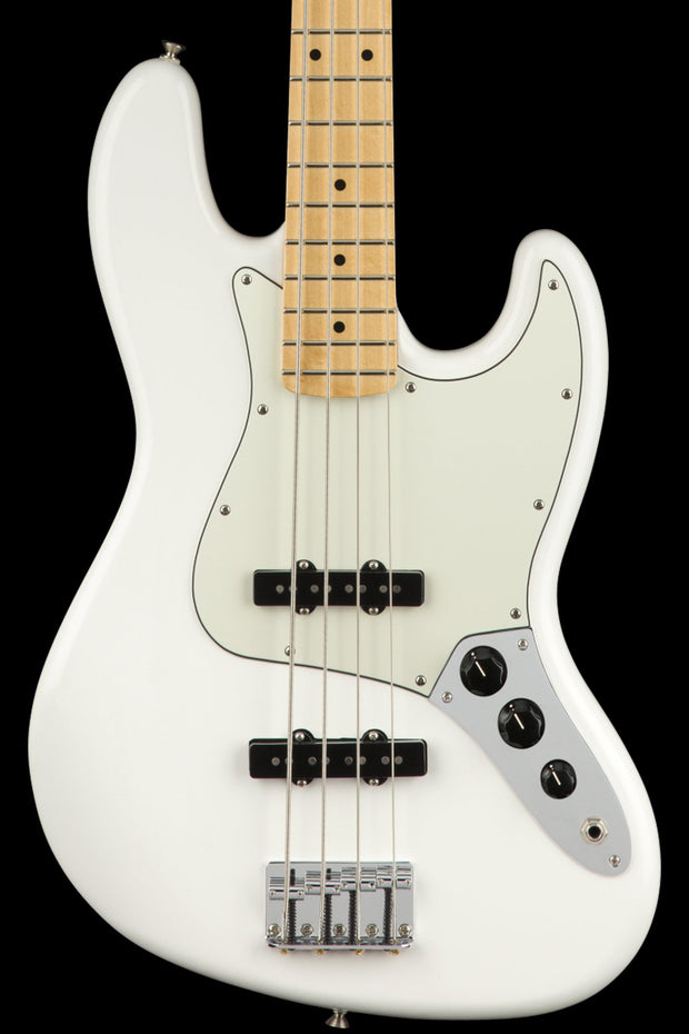 Fender Player Jazz Bass - Polar White with Maple Fingerboard Bass Guitar Fender