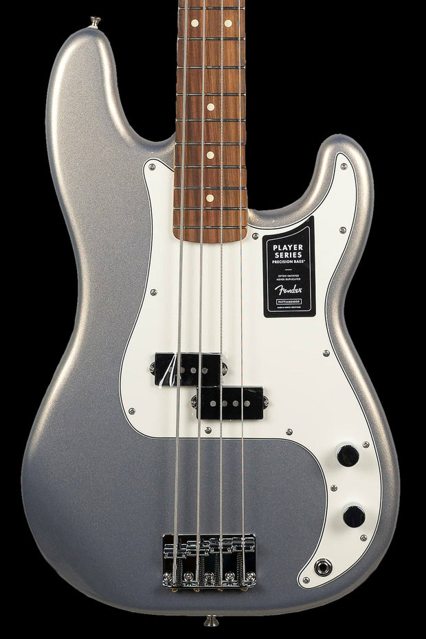 Fender Player Precision Bass Pau Ferro Silver Bass Guitar Fender