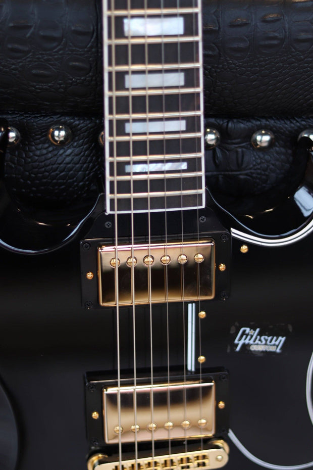 Gibson Customshop SG Custom - Ebony w/ Ebony Fingerboard Electric Guitar Gibson