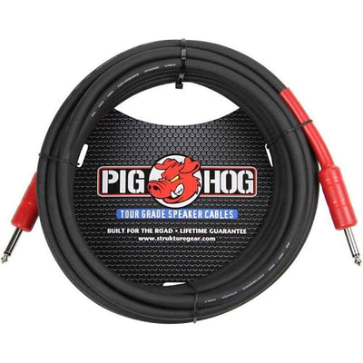 "Pig Hog PHSC25 1/4"" TS Straight Speaker Cable - 25. Accessories guitars usa"