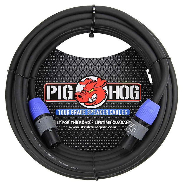 Pig Hog PHSC50SPK High Performance 14 Gauge 9.2mm speakON Speaker Cable, 50 Feet Accessories guitars usa