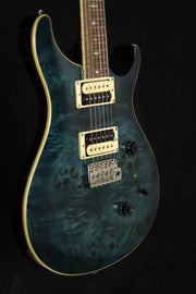 PRS Paul Reed Smith SE Custom 24 Poplar Burl Electric Guitar Whale Blue Electric Guitar PRS