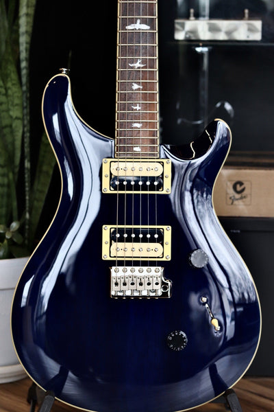 PRS SE Standadrd 24 Transparent Blue Electric Guitar PRS