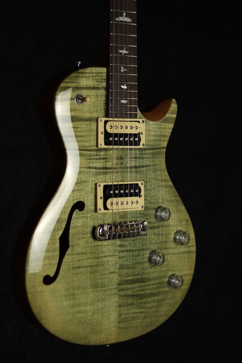 PRS SE Zach Myers Semi-Hollow - Trampas Green Electric Guitar PRS