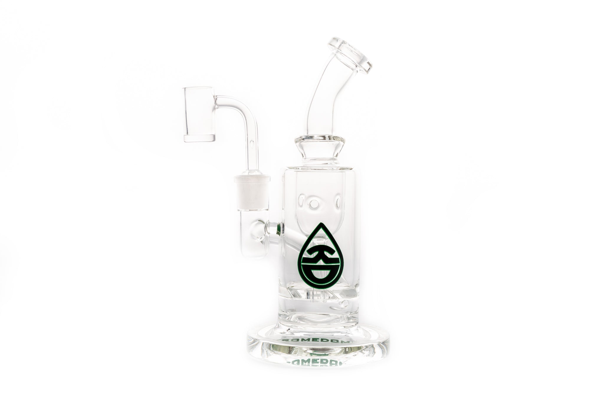 Recycler rig with E-nail Banger