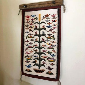 "Rug Hanger 18"" dark walnut stained oak"