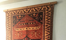 Load image into Gallery viewer, rug hanger medium stained oak