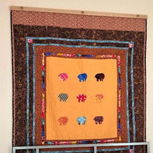 "Load image into Gallery viewer, quilt hanger 65"" natural finished oak"