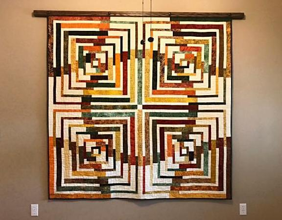 quilt hanger dark walnut stained oak