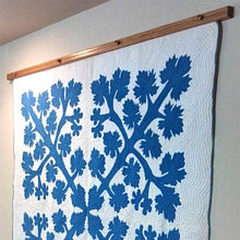 Load image into Gallery viewer, quilt hanger medium stained oak