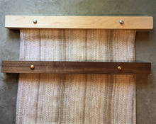Load image into Gallery viewer, Modern Hangers in Maple and Walnut with Silver and Gold Buttons