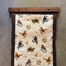 Load image into Gallery viewer, Modern Quilt Hanger in Clear Finished Walnut