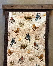 Load image into Gallery viewer, Modern Quilt Hanger in Dark Walnut Stained Oak
