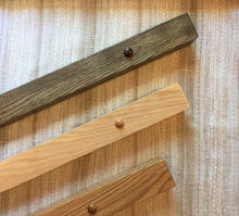 Load image into Gallery viewer, Modern Oak Hangers for Quilts and Rugs