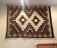 "Load image into Gallery viewer, rug hanger 60"" natural finished oak"