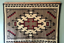 Load image into Gallery viewer, Navajo rug hanger natural finished oak