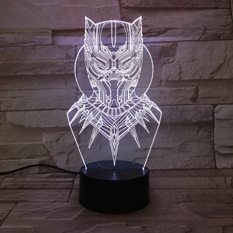 Lampe 3D | Black Panther - Maneon
