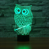 Lampe 3D animal | Hibou - Maneon