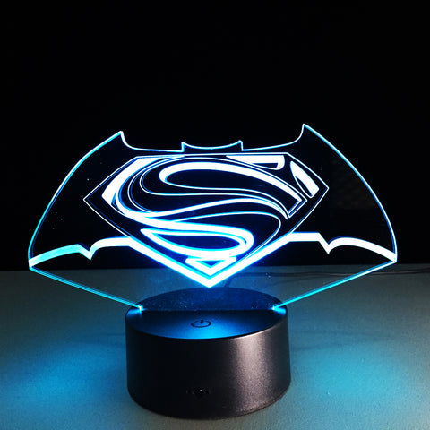 Lampe 3D Batman vs Superman