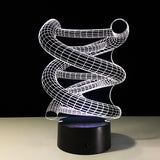 Lampe led 3D | Spirale - Illusion - Maneon
