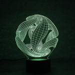 Lampe led 3D | Sphère - Illusion -Maneon