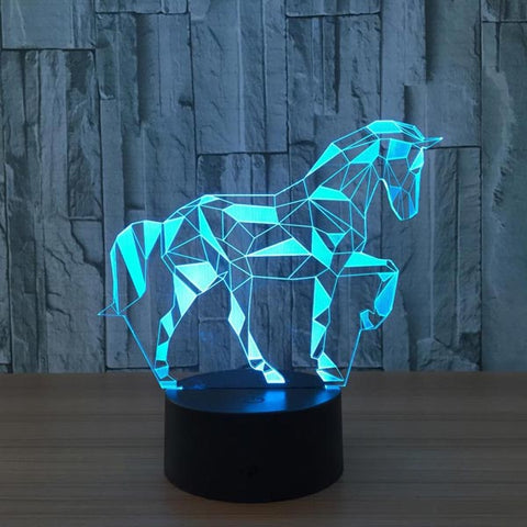 Lampe 3D Cheval