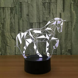Lampe led 3D Cheval