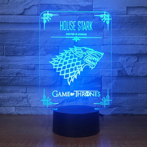 Lampe 3D Game of Thrones Stark