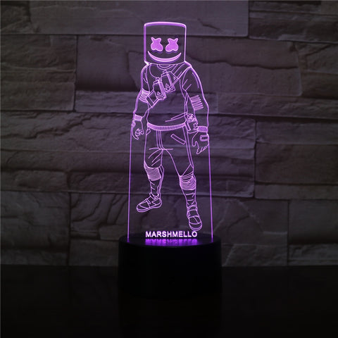 Lampe 3D Fortnite Marshmello