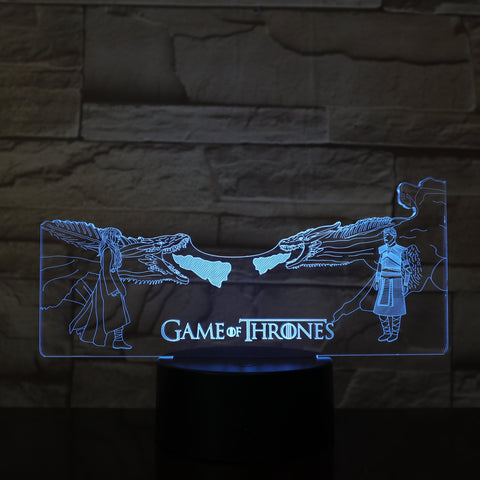 Lampe 3D Game of Thrones Khaleesi