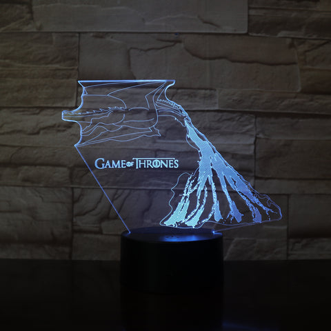 Lampe 3D Game of Thrones Dragon